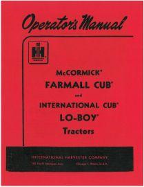 Farmall Cub Tractor, 1955-58, Operator's Manual