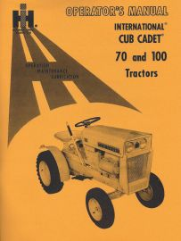 cub cadet tiller manual