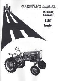 Farmall Cub Tractor, 1958-64, Operator's Manual