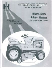 Binder Books: IH Cub Cadet Manuals