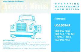 1972-76 international loadstar truck operator's manual for models1600-1890