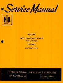 INTERNATIONAL 2400 2500 SER A TRACTOR BACKHOE HYDRAULIC TESTING SERVICE MANUAL