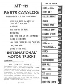 international loadstar 1600, 1600 4x4, 1603, co-1600, 1700, f