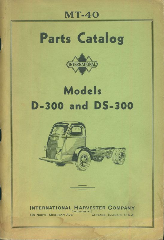International Models D-300 & DS-300 Truck Parts Catalog