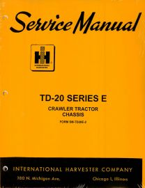 Binder Books: IH Crawler & Loader Service Manuals