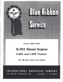 Binder books ih numbered series manuals d 193 diesel engine service used on farmall ih 300 and 350 series fandeluxe Choice Image