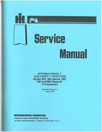International Cub Cadet Equipment Part Catalog Manual