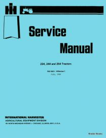 international 234, 244 and 254 tractor service manual