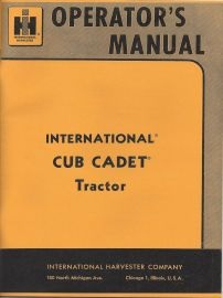 IH Cub Cadet Operator Manuals binder books ih cub cadet manuals