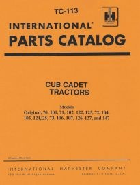 IH Cub Cadet Parts Catalogs binder books ih cub cadet manuals