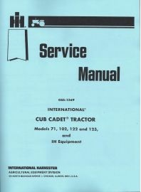 IH Cub Cadet Service Manuals binder books ih cub cadet manuals
