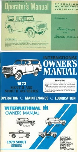 Binder Books: IH Scout Manuals