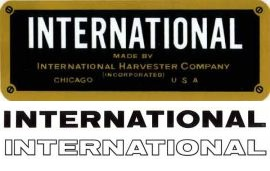 Binder books misc ih decals for International harvester wall decor