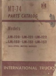 Parts Catalog for International Trucks LM-120, LM-121, LM-122, LM-150,  LM-151, LM152