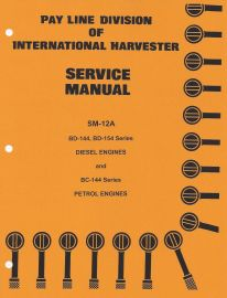 complete service manual set for ih 3444 tractor with diesel engine