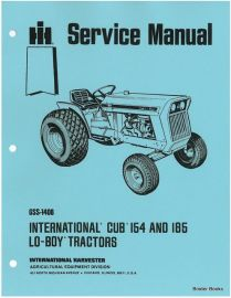 international cub cadet lo boy 154 184 185 tractor manual